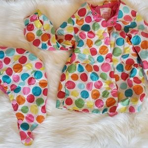Girl's 3T - Oshkosh Raincoat w/ detachable hood!
